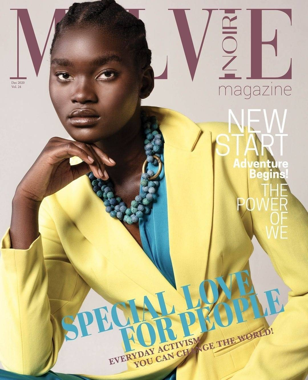 LUCIA CLEMENT COVERS MALVIE MAGAZINE ISSUE 24.