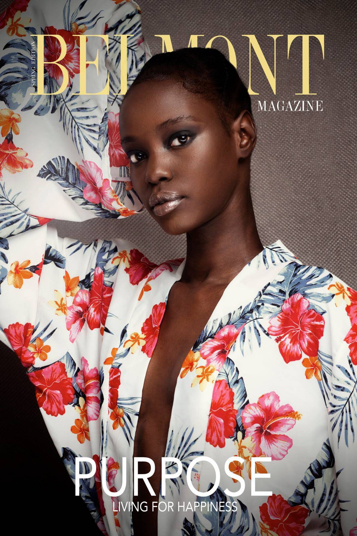 BELMONT MAGAZINE. Issue 2 Cover Girl is ANGAIR BIONG